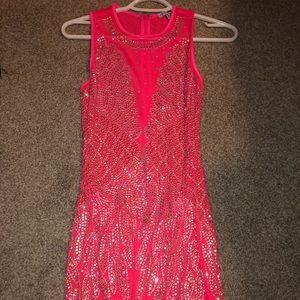 Pink rhinestone dress